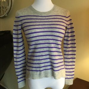 Rebecca Taylor 100% Cashmere Striped Sweater